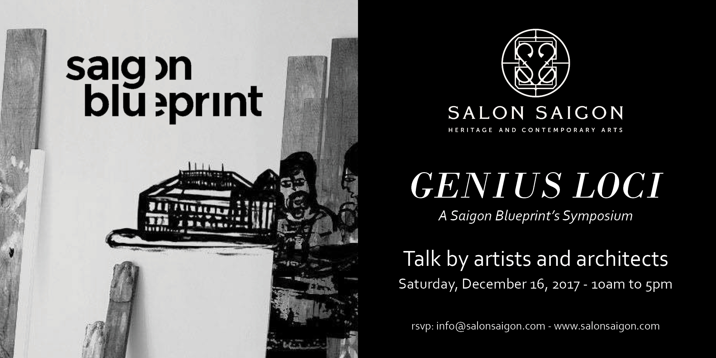 Talk by artists and architects genius loci salonsaigon genius loci a saigon blueprints symposium malvernweather Image collections